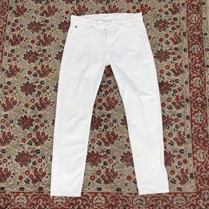 Hudson white jeans size 28